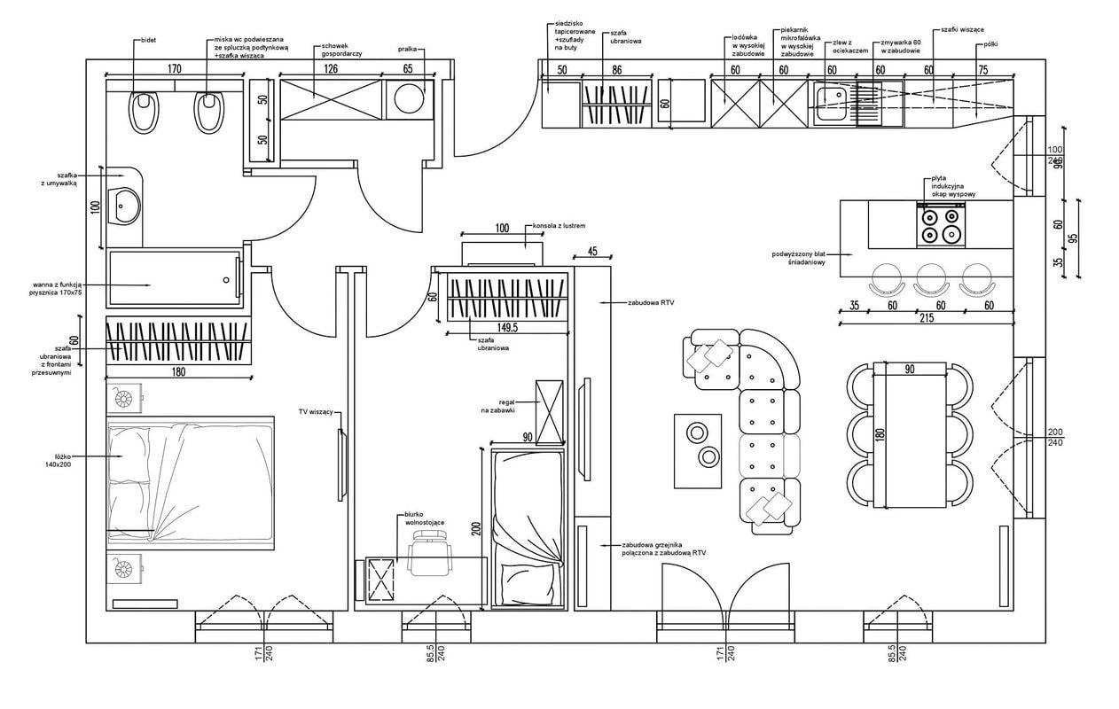 2-Projekt-Koncepcyjny-mieszkanie-Projektowanie-Wnetrz-Online