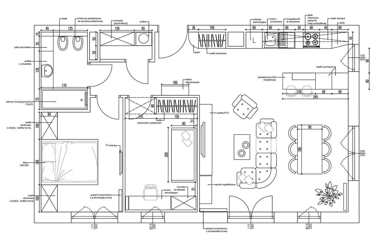 3-Projekt-Koncepcyjny-mieszkanie-Projektowanie-Wnetrz-Online