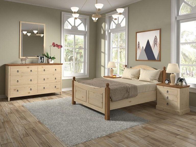 Łóżko stylistyka sypialni