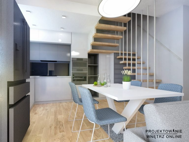 Kuchnia z wejściem na piętro