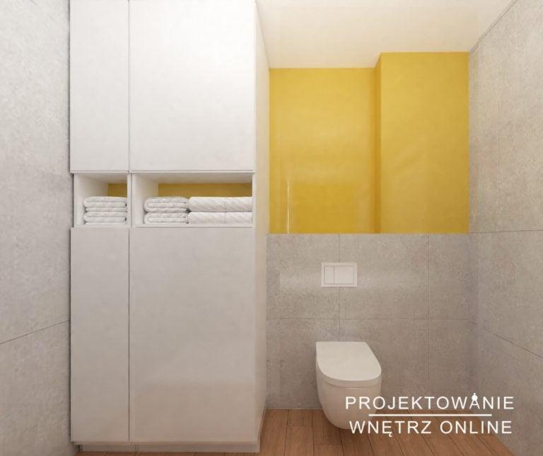 Projekt lazienki - Łazienka w zoltym kolorze (2)