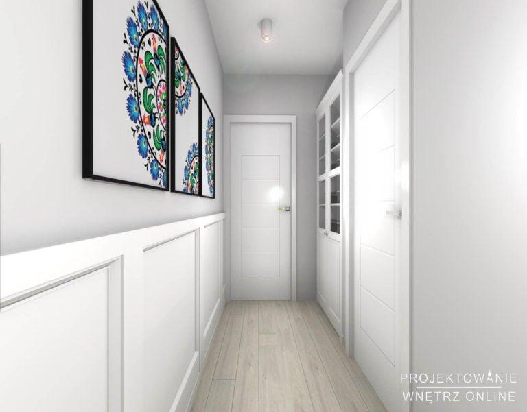 Projekt korytarza w kawiarni