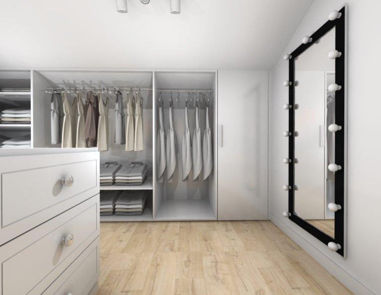 Przykładowy projekt garderoby
