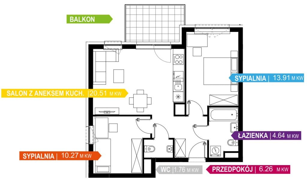 Plan-Deweloperski-mieszkanie-57-m2,-3-pokoje