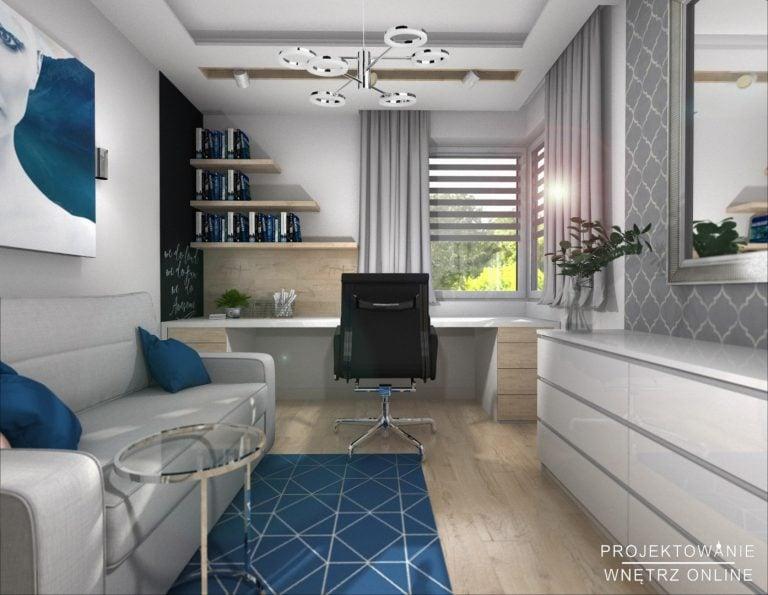Projekt Gabinetu do pracy w domu