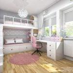 Sypialnia dziecieca z lozkiem na antresoli