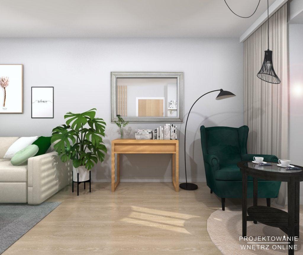 Salon w stylu skandynawskim IKEA 3