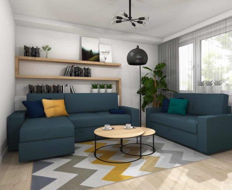 Mieszkanie w nowoczesnym, ciepłym stylu