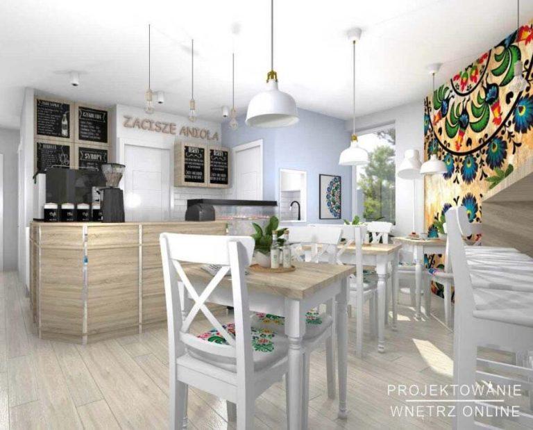Projekt kawiarni z elementami folklorystycznymi