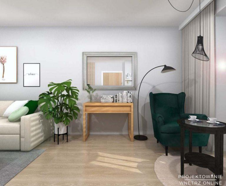 Salon w stylu skandynawskim IKEA