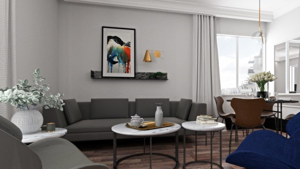 Aranżacja wnętrza mieszkania 8