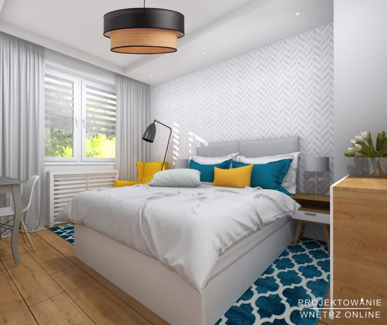 Modna i komfortowa sypialnia