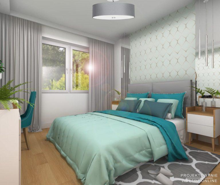 Sypialnia z akcentami maroko