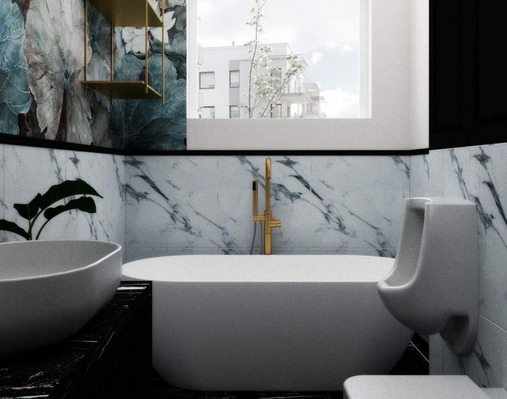 Łazienka w stylu glamour 9