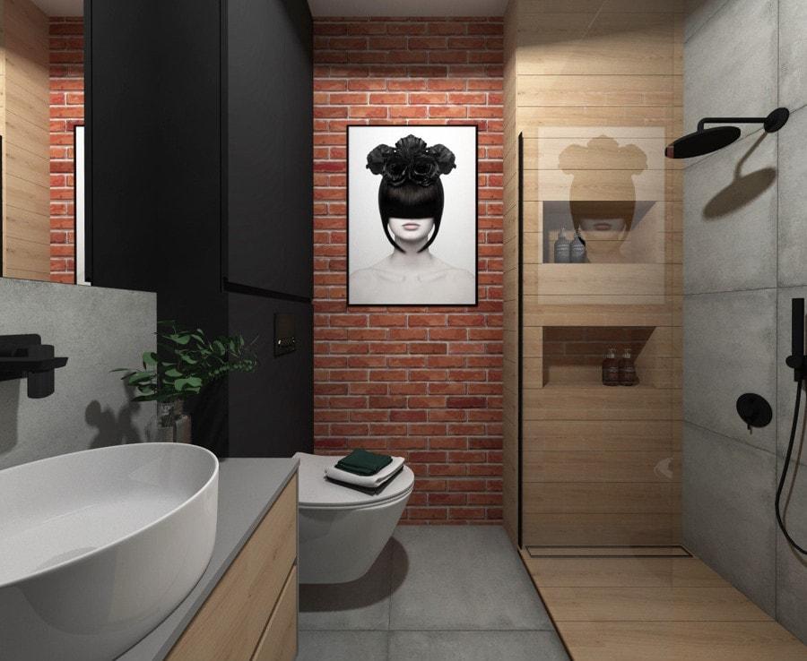 Łazienka w stylu industrialnym 2