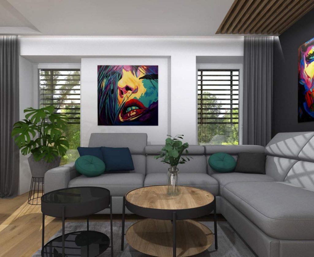 Projekt nowoczesnego salonu 7