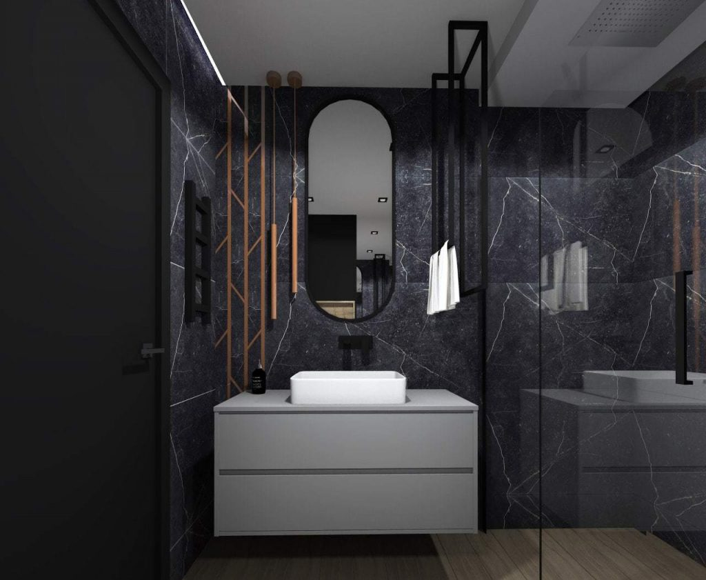 Projekt nowoczesnej łazienki 5