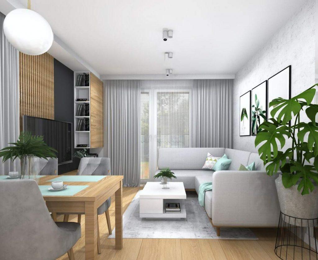 Projekt salonu domu 6