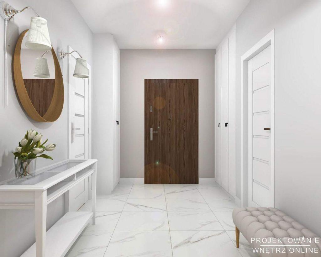 Projekt wnętrza mieszkania przedpokój 6