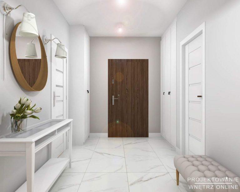 Projekt wnętrza mieszkania przedpokój
