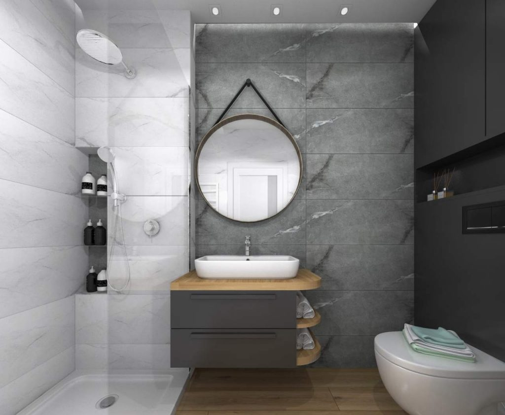 Projekt wnętrza nowoczesnego łazienka 1