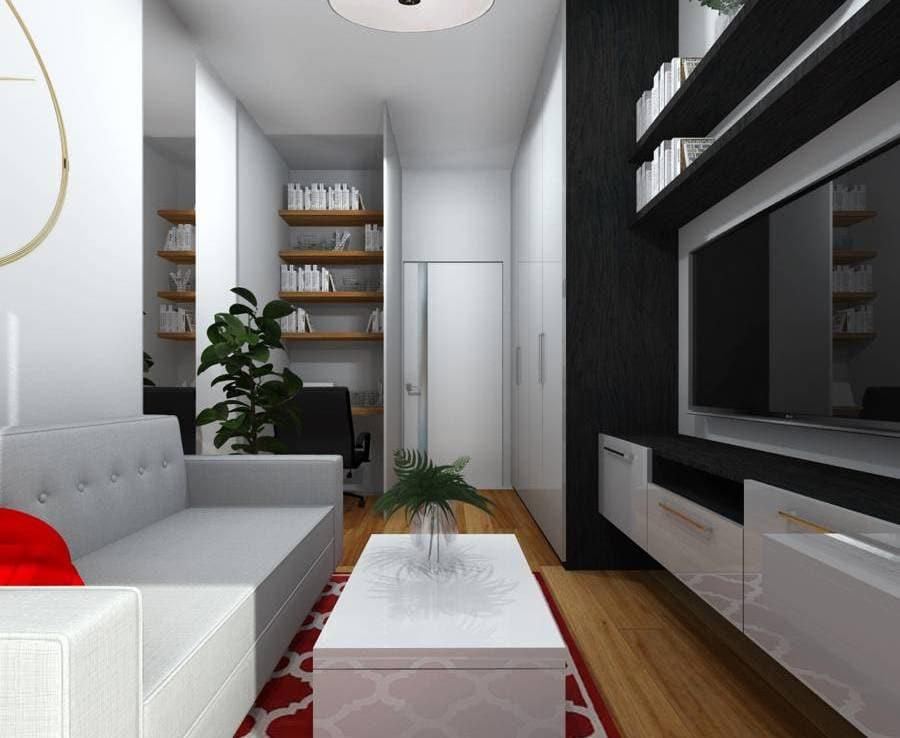 Styl minimalistyczny we wnętrzu gabinet 6