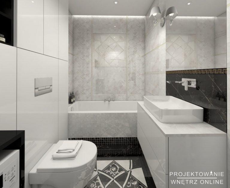 Aranżacja łazienki czarno-białej
