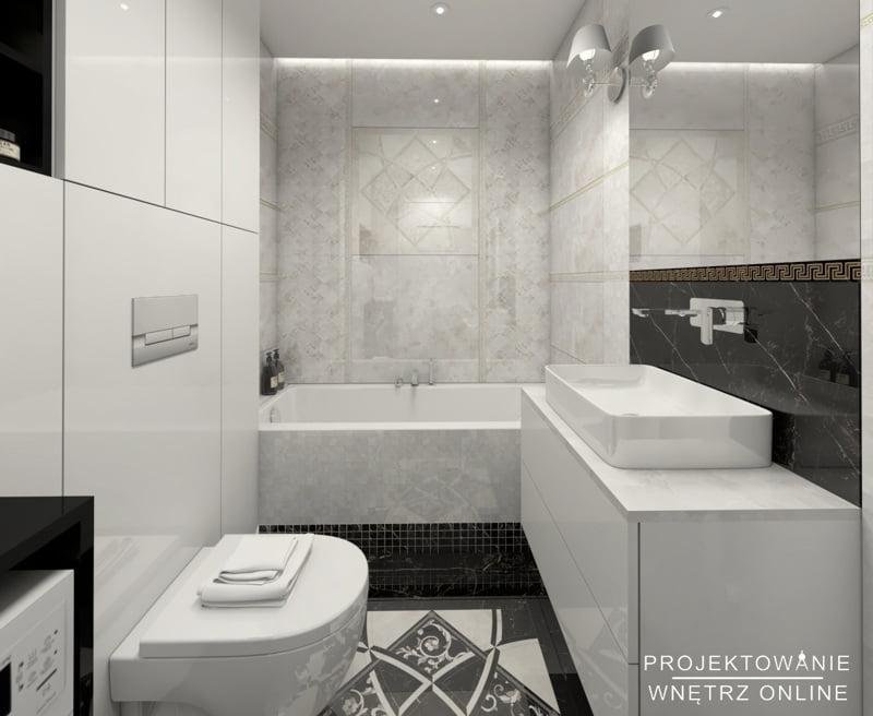 Aranżacja łazienki czarno-białej 9