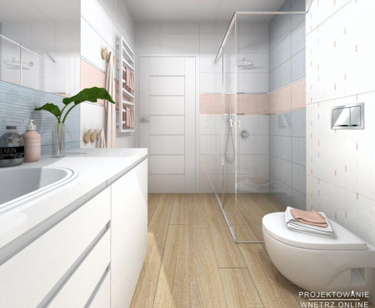 Łazienka z prysznicem projekt