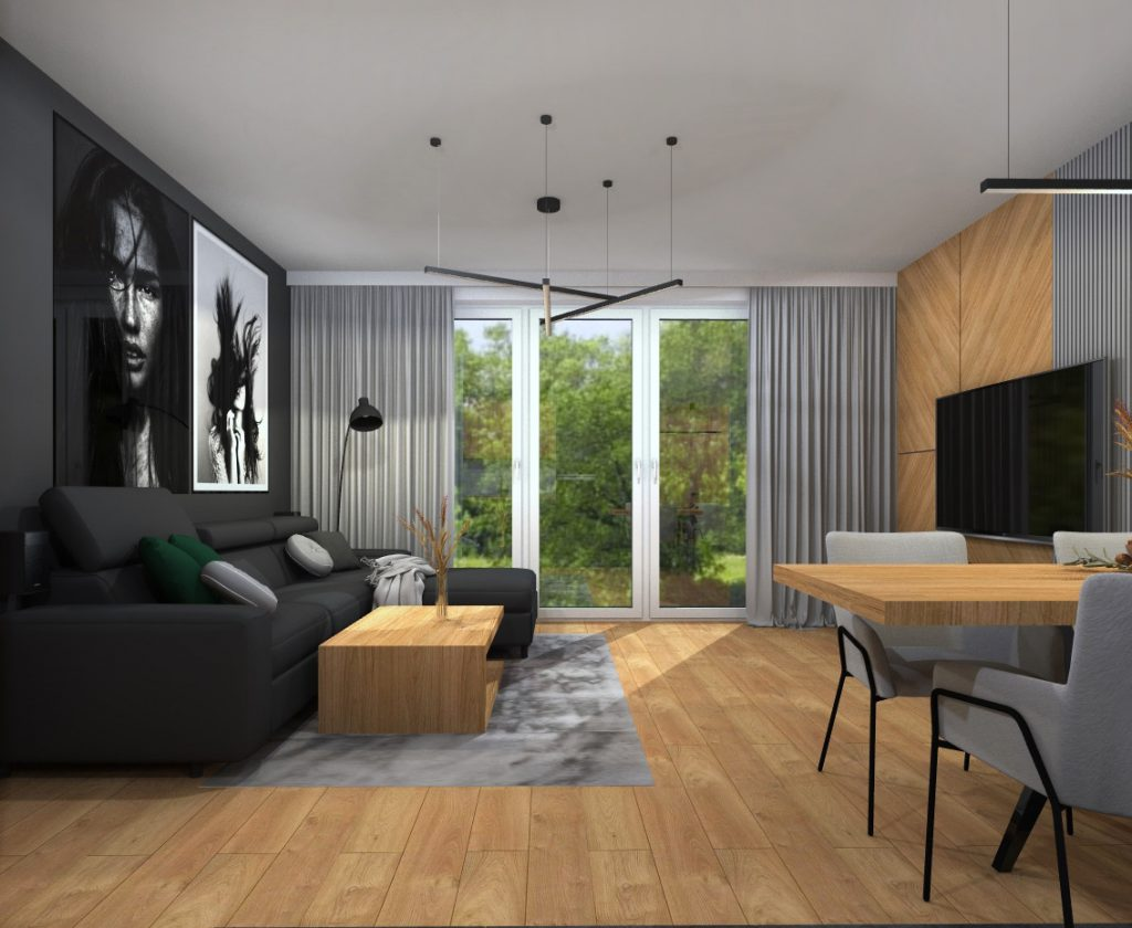 Aranżacja mieszkania w stylu nowoczesnym 5