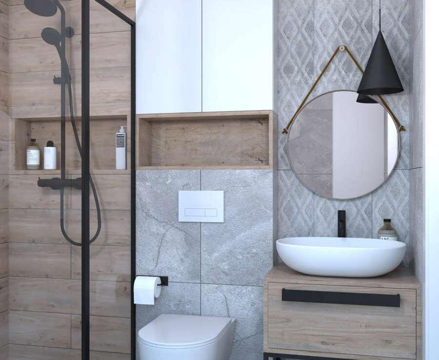 Funkcjonalna łazienka w skandynawskim stylu 2