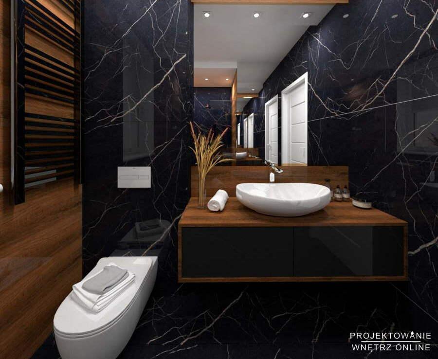 Projekt łazienki w stylu nowoczesnym 1