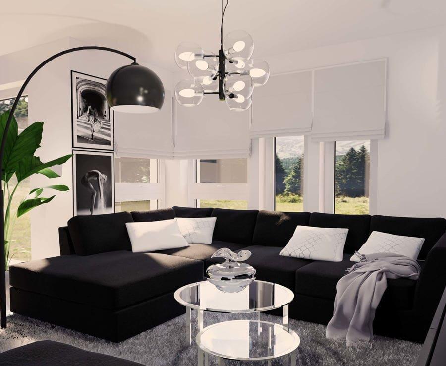 Projekt salonu w stylu nowoczesnym 4