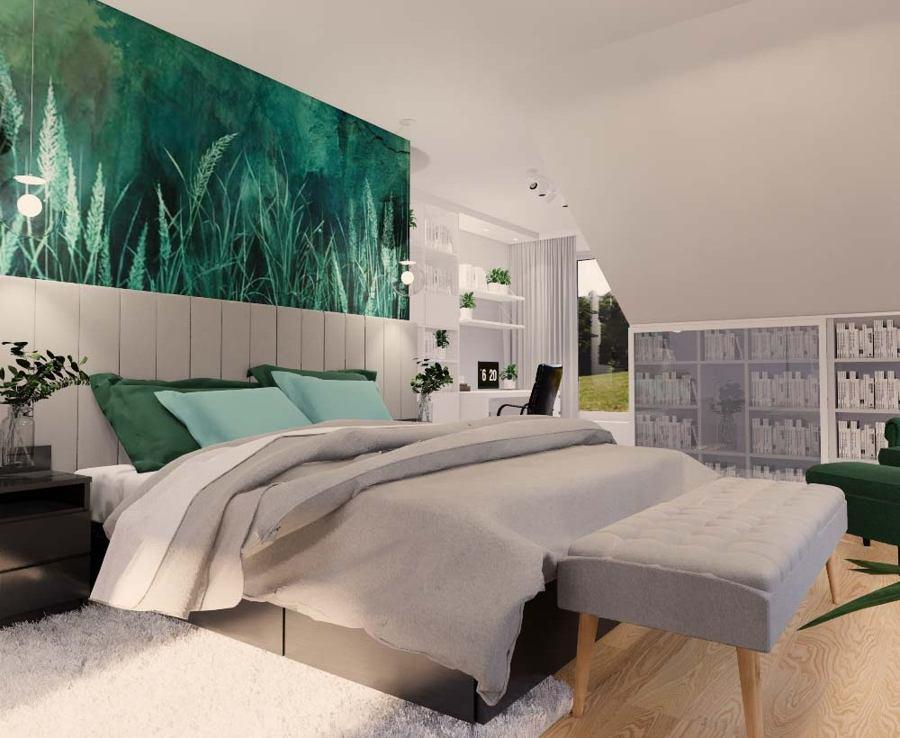 Projekt sypialni na poddaszu 2