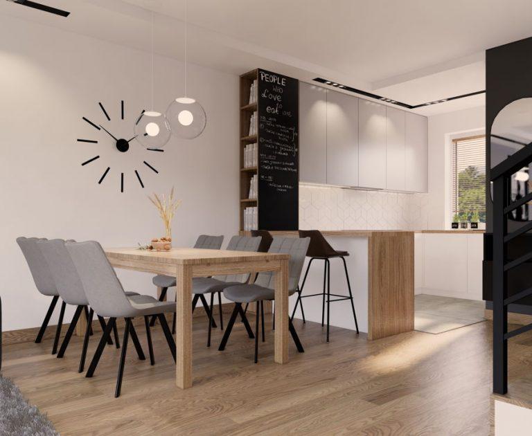 Wnętrza domu w stylu nowoczesnym