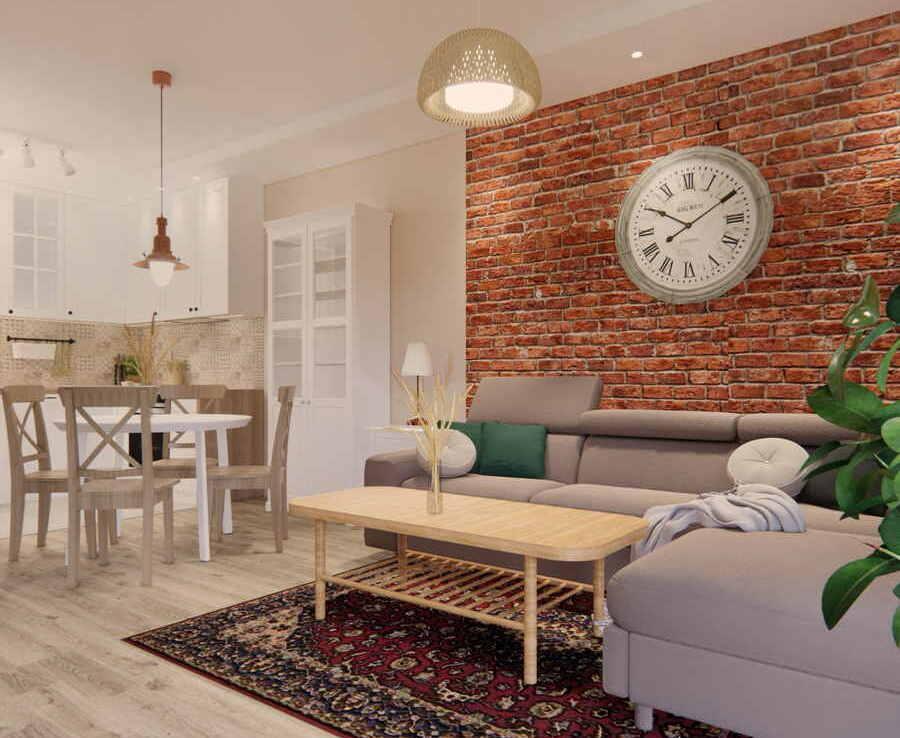 Projekt mieszkania 53m2 IKEA 4