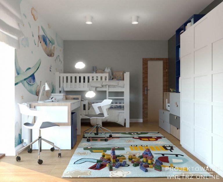 Projekt pokoju dziecięcego dla rodzeństwa