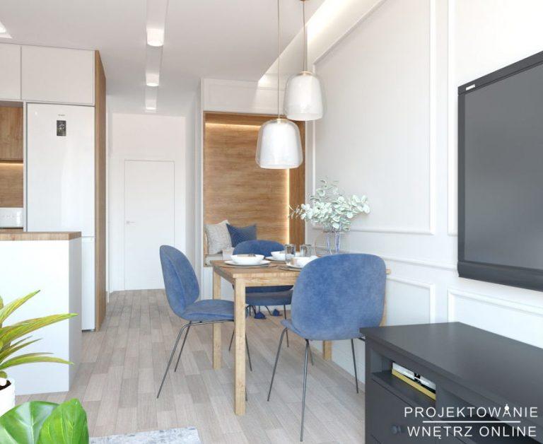 Aranżacja mieszkania 50 m2 styl nowoczesny