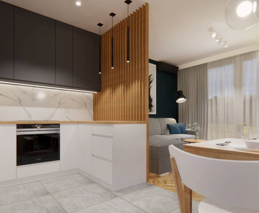 Aranżacja mieszkania 60 m2 w stylu skandynawskim 3