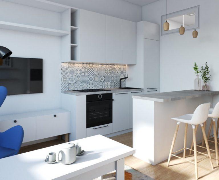 Funkcjonalne nowoczesne mieszkanie 28 m2