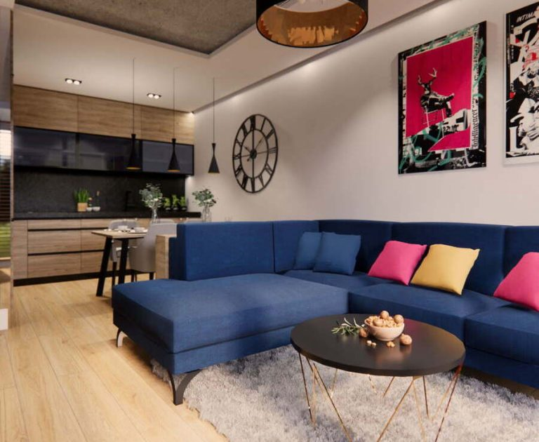 Funkcjonalne nowoczesne mieszkanie