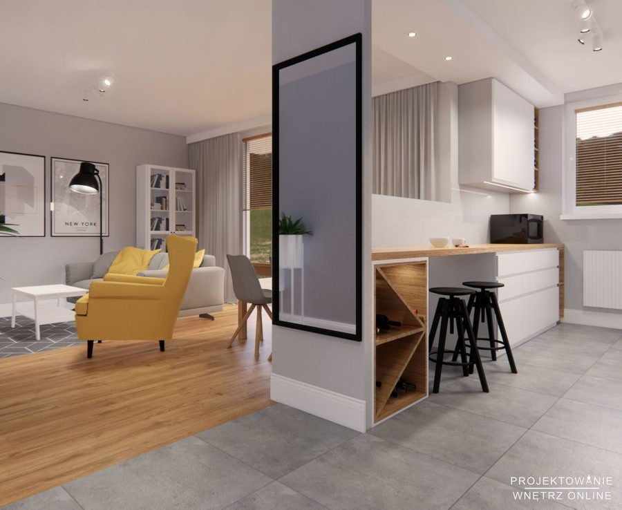 Projekt kuchni i salonu IKEA 9