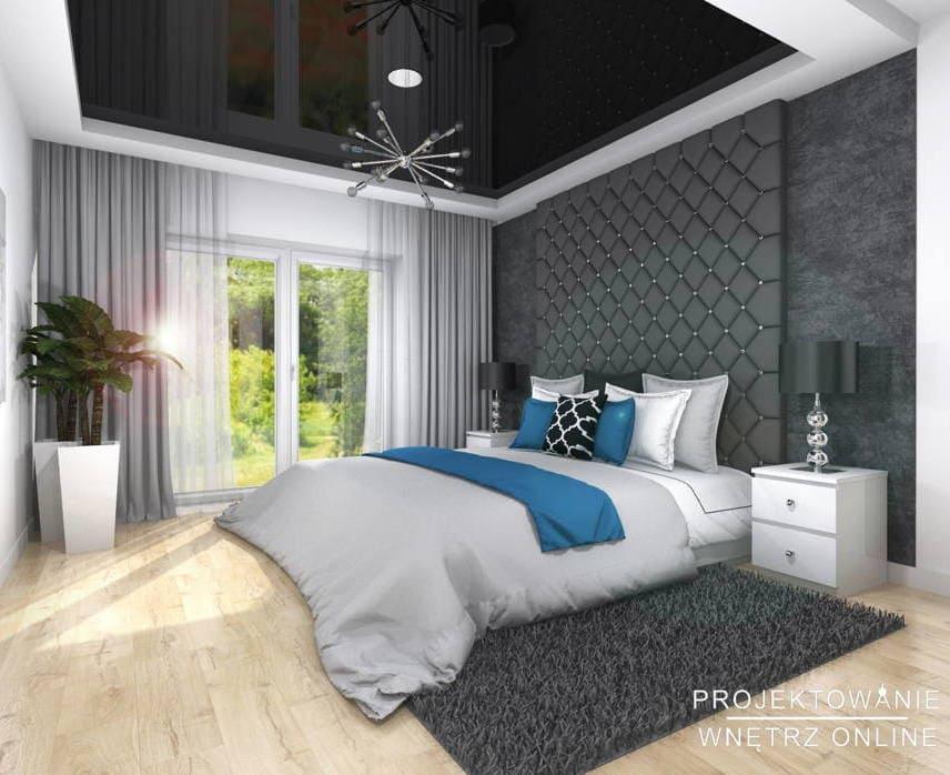 Projekt sypialni glamour 7