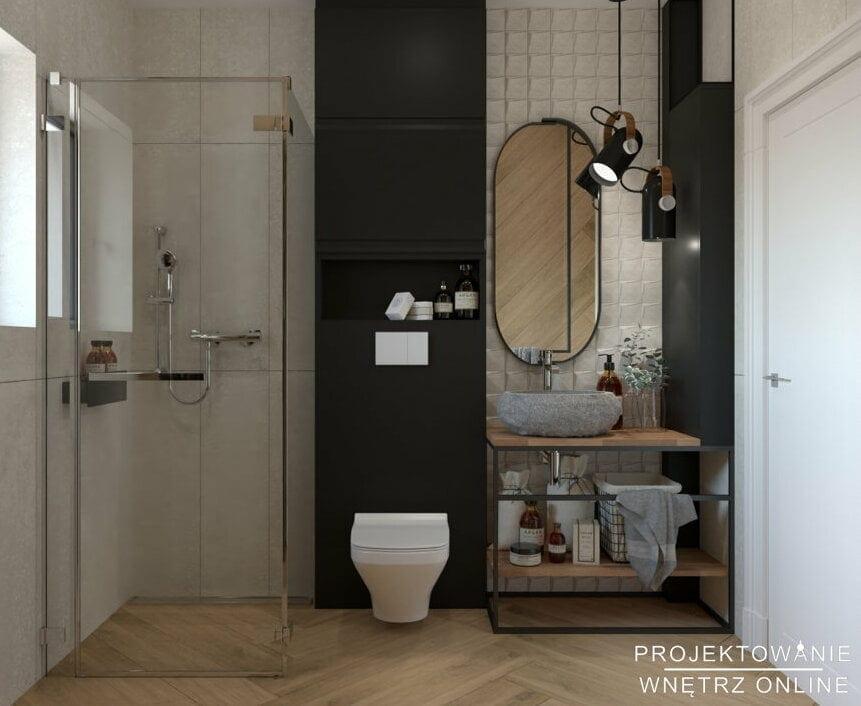 Aranżacja małej łazienki z prysznicem 6