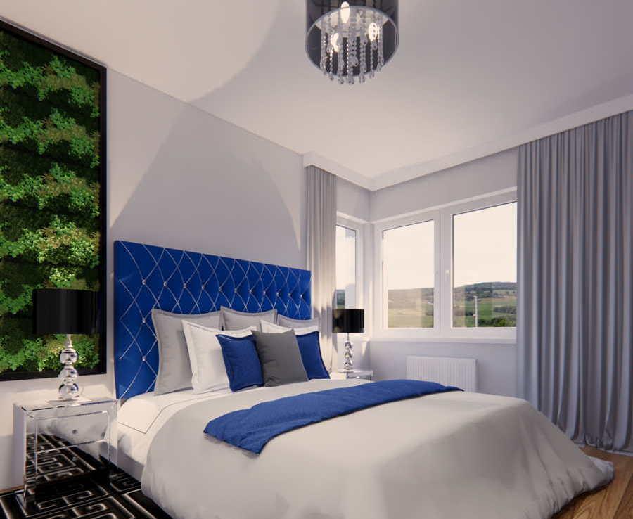 Aranżacja sypialni styl glamour 2