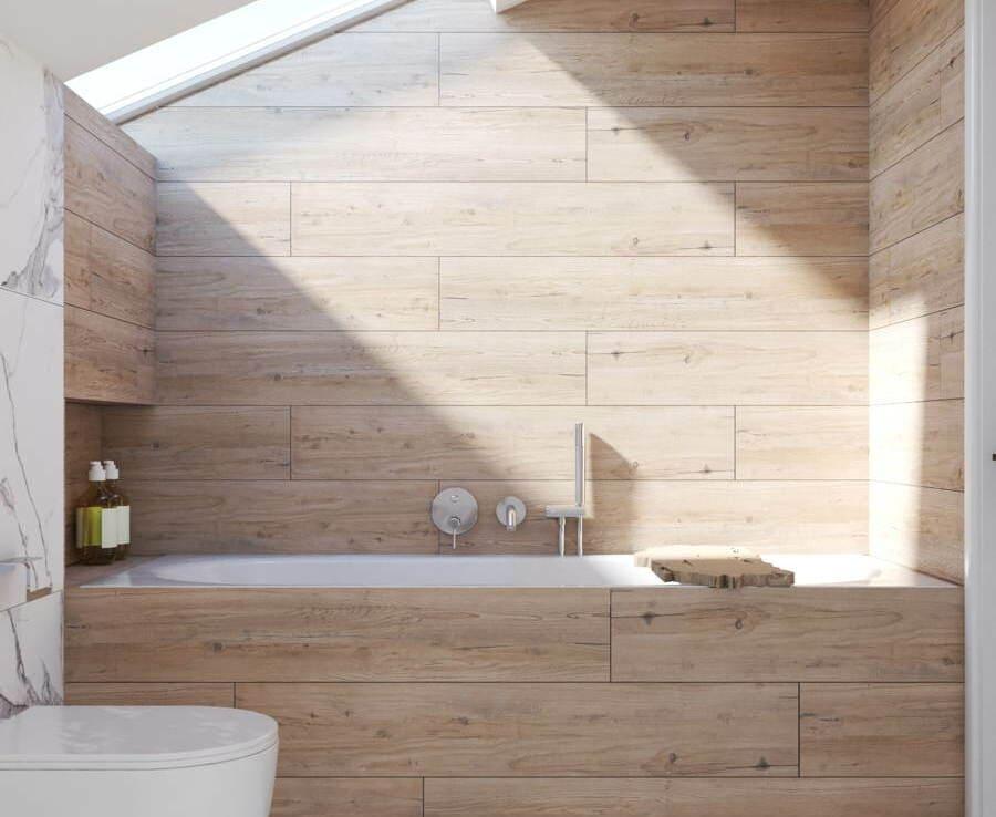 Projekt łazienki na poddaszu z wanną 2