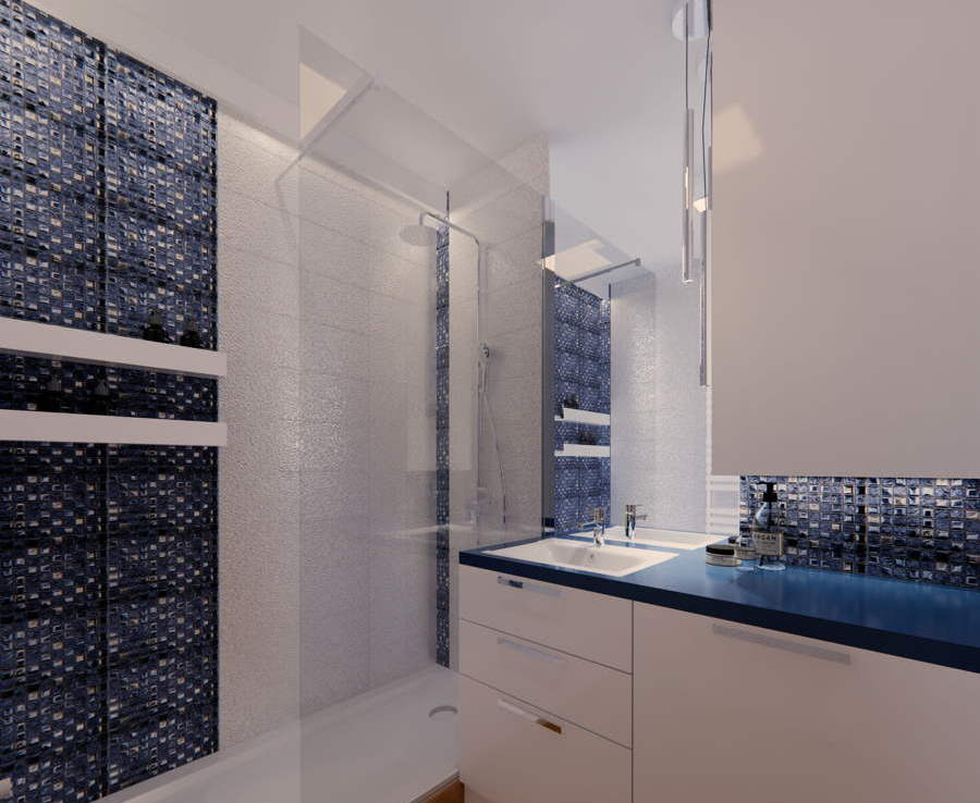 Projekt łazienki oraz małe WC 2
