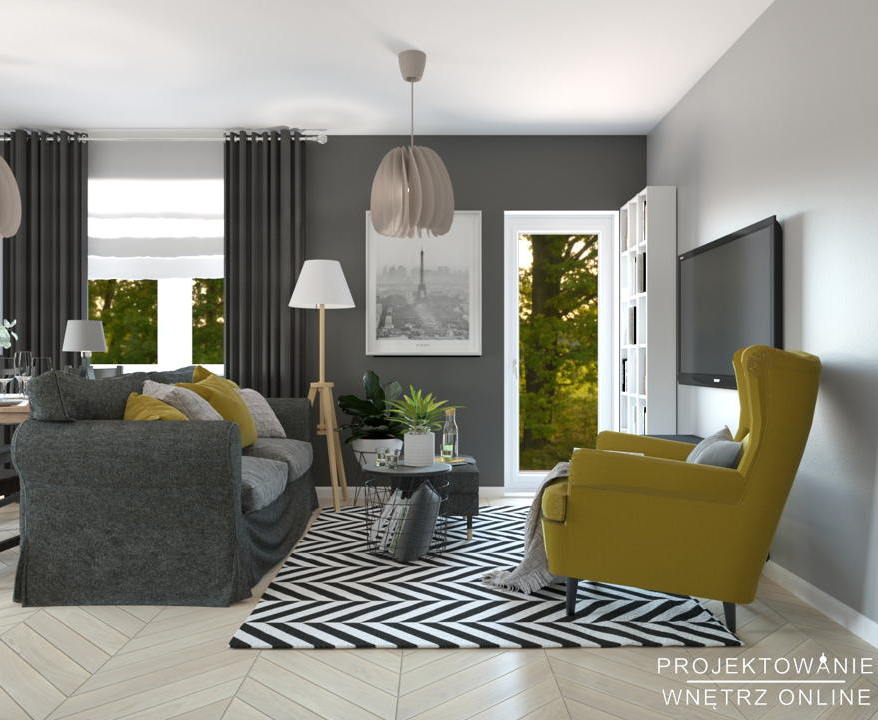Salon IKEA projekt 8