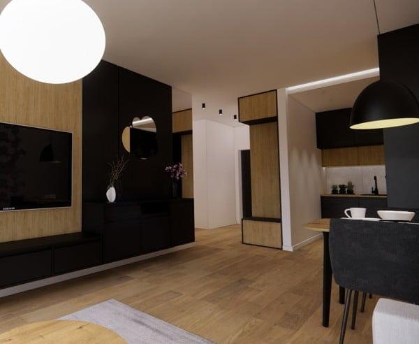 Aranżacja mieszkania 50 m2 1