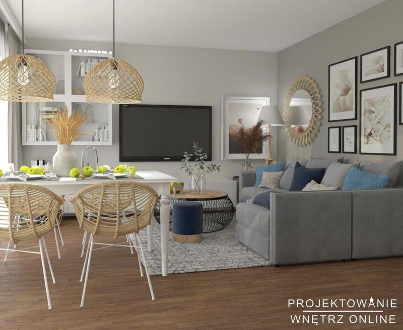 Aranżacja salonu z jadalnią IKEA 2
